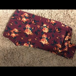 TC floral lularoe leggings
